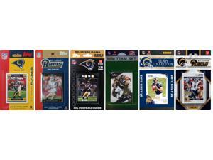 C and I Collectables RAMS611TS NFL St. Louis Rams 6 Different Licensed Trading C