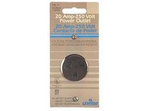 Leviton 105-5821 Brown Commercial Grade Straight Blade Single Receptacle