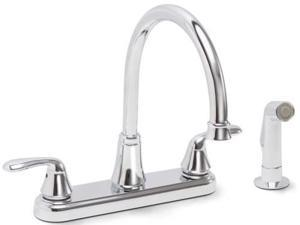 Premier 126967 Waterfront Kitchen Faucet 2 Handle With Sprayer Chrome, 8 In.