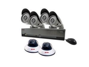 Revo America R84D2EB4E-1T 8 Channel 1TB DVR Surveillance System with 6 600TVL 80