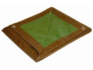 Foremost Tarp 10816 8-Ft. X 16-Ft. Brown and Green Reversible Tarp