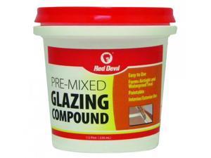 Red Devil 0662 Glazing Compound - White - 1/2 Pint Tub