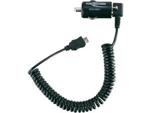 Ansmann 1000-0001 Ansmann Low-Profile USB Car Charger 1A with Micro USB Cable