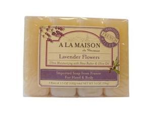 A La Maison 1015718 Bar Soap Lavender Flower Value 4 Pack