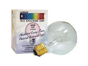 Chromalux 608232 Light Bulb Golbe Clear 40W Bulb.