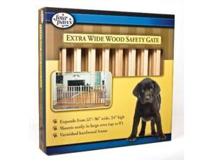 Four Paws Products Wood Slat Vertical Gate 53-96 Inch - 57220
