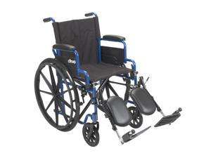 Drive Medical BLS16FBD-ELR Blue Streak Wheelchair with Flip Back Desk Arms and E