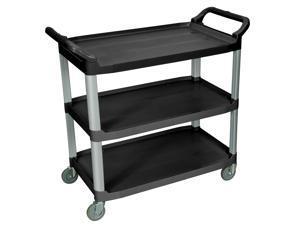 Luxor SC13-B Black 3 Shelf Serving Cart