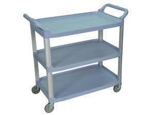 Luxor SC13-G Gray 3 Shelf Serving Cart