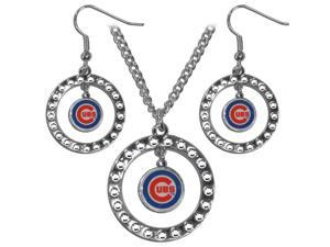 Siskiyou BRJS045 Chicago Cubs Rhinestone Jewelry Set