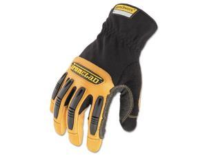 Ranchworx Leather Gloves Black/Tan Medium