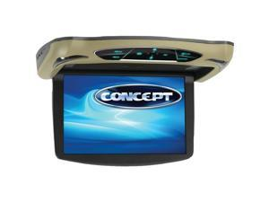 CONCEPT CFD-135 13.3in Flipdown Monitor DVD with HD Input High Audio Out and Tou