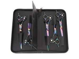 Master Grooming Tools TP87160 05 MG 5200 Rainbow Series Shear Kit 5-Piece