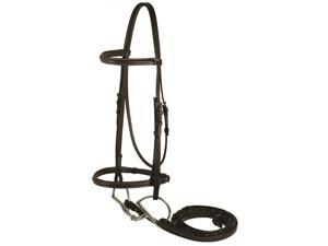 Gatsby Leather Company 103-H HORSE Fancy Snaffle Bridle