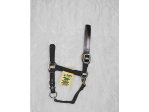 Hamilton Halter 1DALSS LGBK Adjustable Halter With Leather Headpole