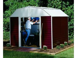 Arrow Shed RH1014 Red Barn 10ftx14ft Steel Storage Shed