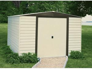 Arrow Shed VD106 Vinyl Dallas 10ftx6ft Steel Storage Shed