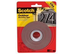 3m 411-MEDIUM 1-inch X 175-inch Medium Outdoor Mounting Tape