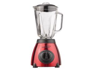 BRENTWOOD JB-810 5-Speed Blender with Stainless Steel Base & Glass Jar (Red)