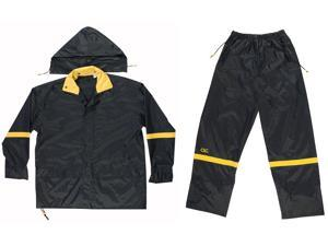 Custom Leathercraft R103M Medium Black Nylon Rain Suit Set