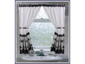 Carnation Home Fashions FWC-MET/16 Metro 100-Percent Polyester Fabric Window Cur