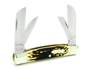 """Schrade SCHSCH4UH Knives Folder Knife Stag Handle Uncle Henry Congress 3 1/2"""" Cl"""