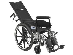 """Drive Medical PLA420RBDFA Viper Plus GT 20"""" Reclining Wheelchair with Full Arms"""
