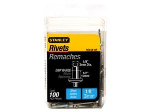 Stanley Hand Tools PSS48-1B 100 Count 1/8-inch X 1/2-inch Steel Rivets