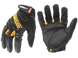 SuperDuty Gloves. X-Large Black/Yellow 1 Pair