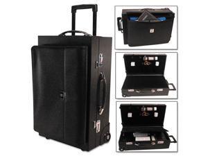 Rolling Sample/Catalog Case 14 1/4 x 23 1/2 x 11 1/4 With Locks Koskin Black