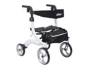 Drive Medical rtl10266wt-h Nitro Euro Style Walker Rollator - Hemi Height - Whit