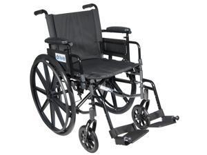 Drive Medical c416addasv-sf Cirrus IV Lightweight Dual Axle Wheelchair with Adju