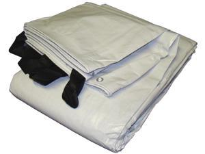Hay Cover 692440 24ft x 40ft White/Black Extra Heavy Duty Tarp and Hay Cover Rev