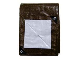 Cover All 23040 30' x 40' Cover All Brown/White Heavy Duty Tarp - Reversible