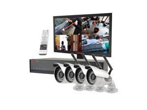 REVO America RL41WB4EM21-5G REVO Lite 4 Channel 500GB 960H DVR Surveillance Syst