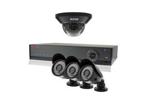 REVO America RL41D1GB3G-5G REVO Lite 4 Channel 500GB 960H DVR Surveillance Syste