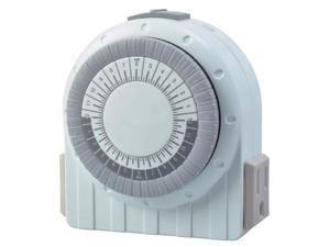 Coleman Cable 50021 White 24 Hour Digital Timer With Night Light