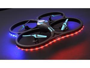 Hero RC XQ-5 V626 UFO Drone with LED 4 Channel 6 Axis Gyro Quadcopter Headless Mode 2.4ghz Ready to Fly w/ Extra Battery