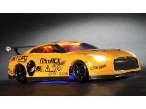 Exceed RC 2.4Ghz MadSpeed Drift King Brushless Edition 1/10 Electric Ready to Run Drift Car w/ LED Head Lights (Yellow)