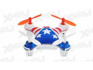 Hero RC Mini World USA Micro 2.4ghz 4CH 6 Axis Gyro LED Quad Copter Ready to Fly