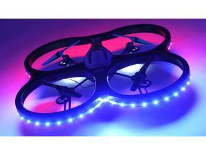 Hero RC XQ-5 V626 UFO Drone with Camera and LED 4 Channel 6 Axis Gyro Headless Mode Quadcopter 2.4ghz Ready to Fly w/Extra Battery
