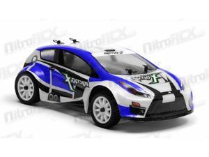 MicroX Racing 1/24 Micro Scale RC Rally Car Ready to Run 2.4ghz (Blue)