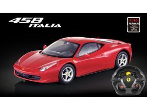 Licensed 1/14th Scale Ferrari 458 Italia Ready to Run Die Cast Radio Control Car with Simulated Steering Wheel