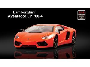 Licensed 1/14th Scale Lamborghini Aventador LP700-4 Ready to Run Die Cast Radio Control Car with Simulated Steering Wheel