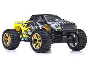 1/10 2.4Ghz Exceed RC Infinitve Nitro Gas Powered RTR Off Road Monster 4WD Truck Sava Yellow