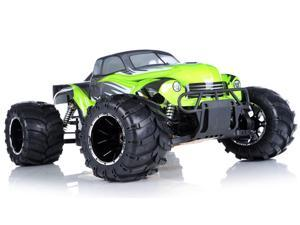 1/5th Giant Scale Exceed RC Hannibal 30cc Gas-Engine Remote Controlled Off-Road RC Monster Truck w/ 2.4Ghz TX 100% RTR & Fail Safe (AA Green)