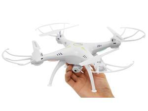 Hero RC XQ6 4 Ch 6-Axis Headless RC Quadcopter Drone RTF 2.4Ghz w/ HD Camera + 3 Batteries + 2 Set Blade + 4GB Memory Card (White)