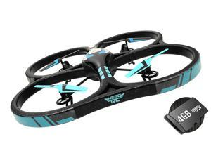 Hero RC V626 UFO Drone with Camera 4 Channel 6 Axis Gyro Quadcopter Headless Mode 2.4ghz Ready to Fly w/4GB Memory Card