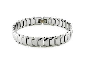 Tioneer B10016 Tungsten Carbide Classic Polished Link Bracelet