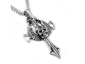 "Stainless Steel Men's ""Legion II"" Cross Pendant"